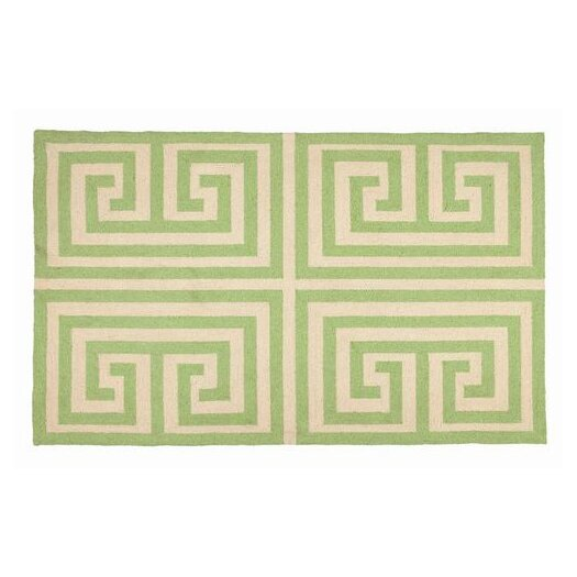 Trina Turk Residential Greek Key Green Geometric Area Rug