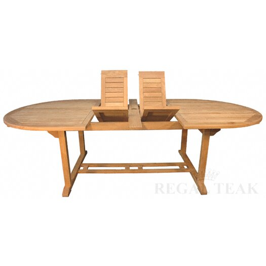 Regal Teak Double Extension Dining Table