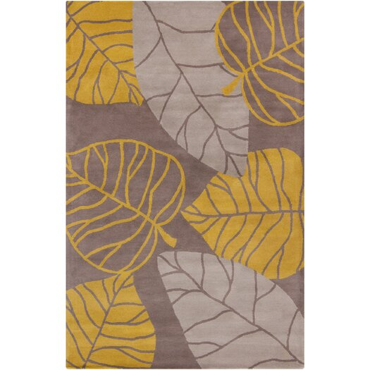 Filament  LLC Cinzia Brown / Yellow Leaves Area Rug