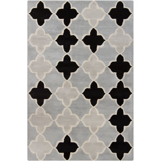 Filament  LLC Cinzia Grey/Black Geometric Area Rug