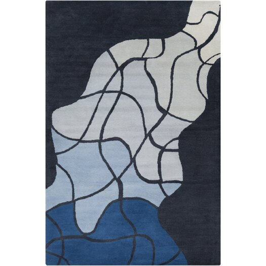 Filament  LLC Cinzia Dark Grey / Blue Geometric Area Rug