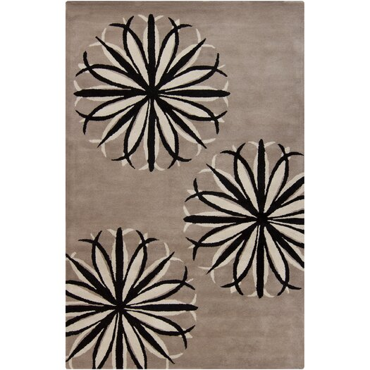 Filament  LLC Cinzia Light Taupe Floral Area Rug