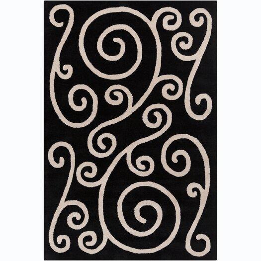 Filament  LLC Cinzia Black / Beige Area Rug