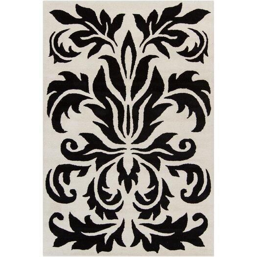 Filament  LLC Cinzia Grey / Black Floral Area Rug