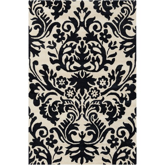 Filament  LLC Cinzia Cream / Black Floral Area Rug