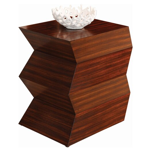 Global Views Zig Zag End Table
