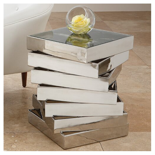 Global Views Vortex End Table