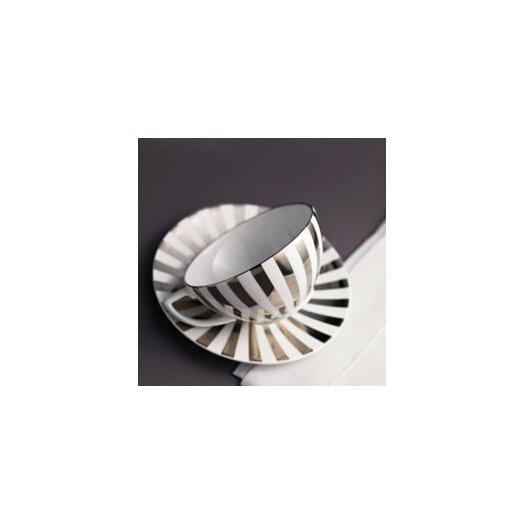 Jasper Conran Platinum Fine Bone China Striped Tea Saucer
