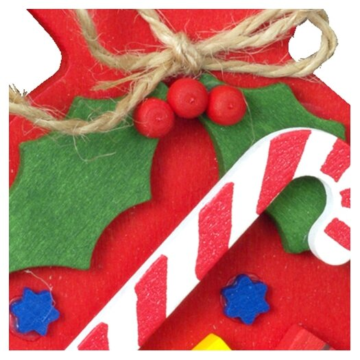 Alexander Taron Christian Ulbricht Red Sack with Candy Cane Ornament
