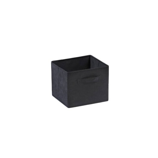 Winsome Capri Foldable Fabric Storage Baskets in Black