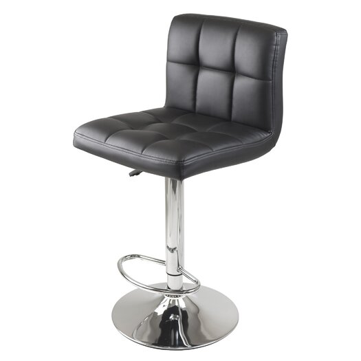 Winsome Stockholm Adjustable Height Airlift Bar Stool