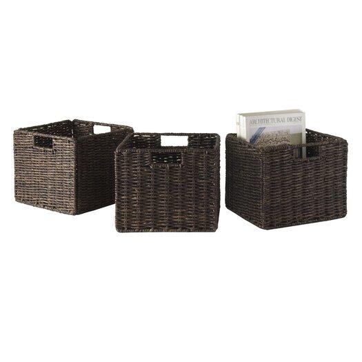 Winsome Granville Foldable Small Corn Husk Baskets