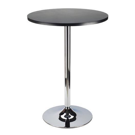 """Winsome Spectrum Pub Table 24"""" Black & Chrome"""