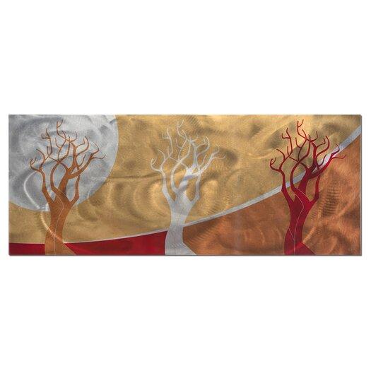 Metal Art Studio Seasons Golden Graphic Art Plaque