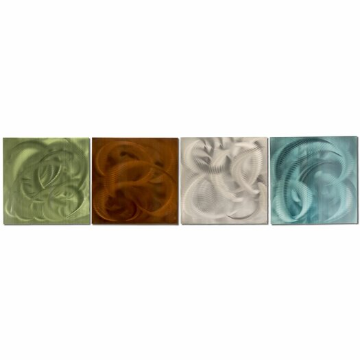 Metal Art Studio Elements 4 Piece Graphic Art Plaque Set