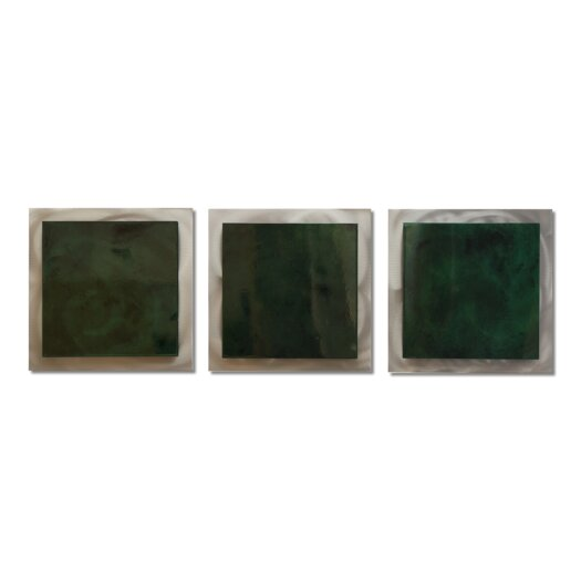 Metal Art Studio Essence Emerald 3 Piece Graphic Art Plaque Set