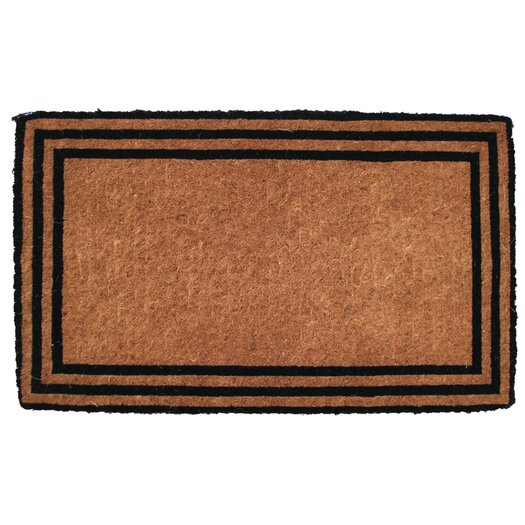 Entryways The one with the Border Extra - Thick Hand Woven Coir Doormat