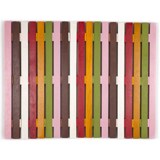 Entryways Bell Exotic Wood Mat 18x30