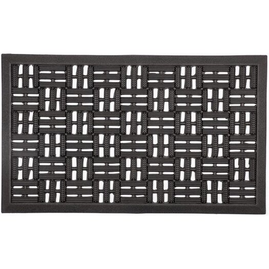 Entryways Recycled Scraper Squares Doormat