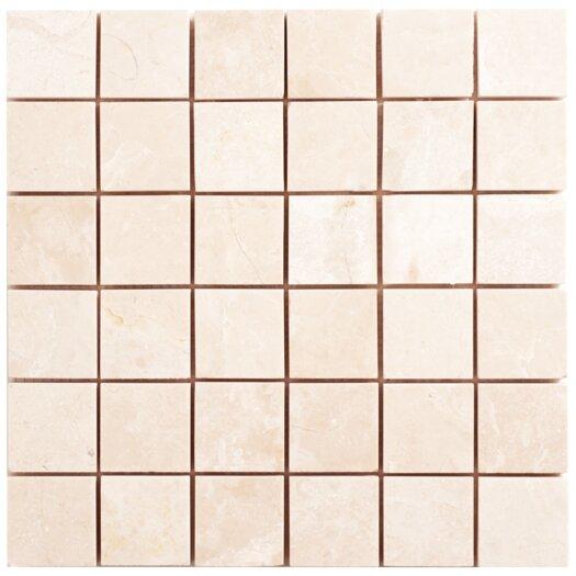 Faber Alara Crema Mesh-Mounted Marble Mosaic