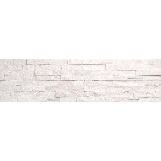 """Faber Ice Ledge 24"""" x 6"""" Corner Split Face Tile Trim in White"""