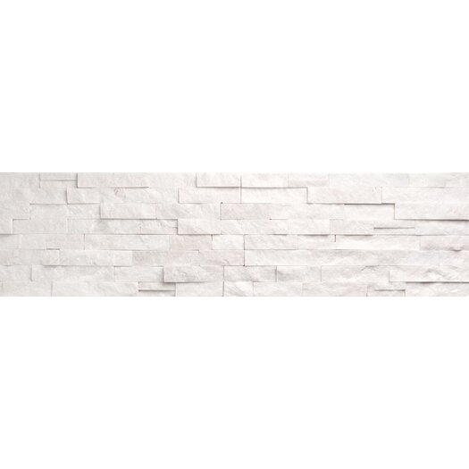 Faber Ice Ledge Random Sized Stone Splitface Mosaic in White