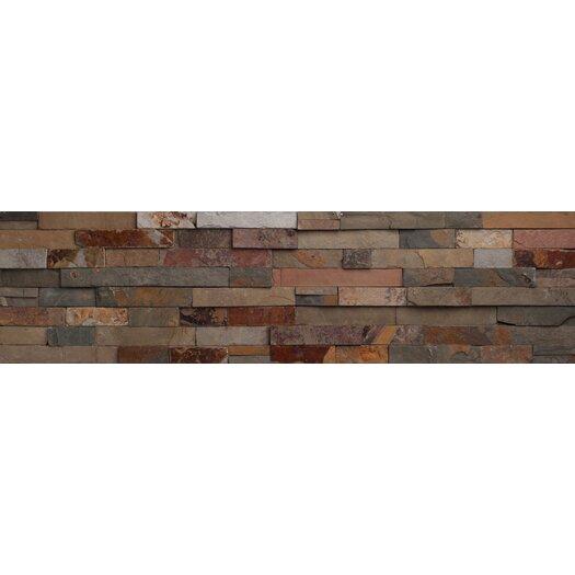 "Faber Nevada Ledge 24"" x 6"" Corner Split Face Tile Trim in Mix Rustic"