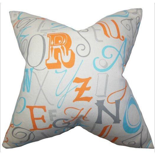 The Pillow Collection Scyler Typography Pillow