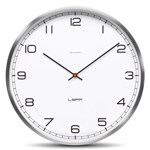 """Leff Amsterdam One35 13.78"""" Arabic Stainless Steel Wall Clock"""