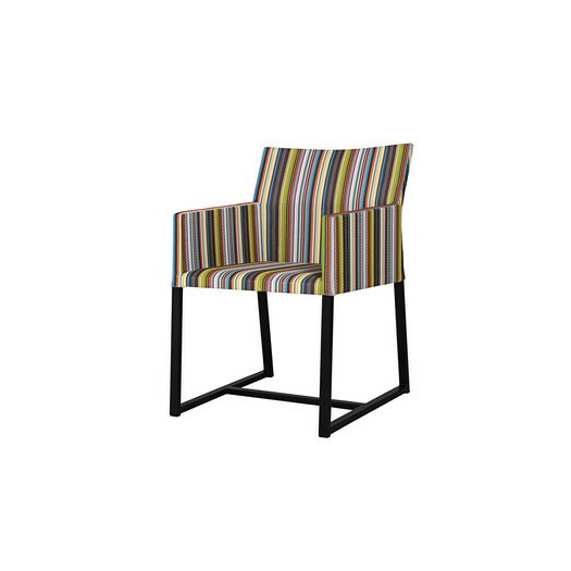 Mamagreen Stripe Dining Arm Chair in Vertical Stripes