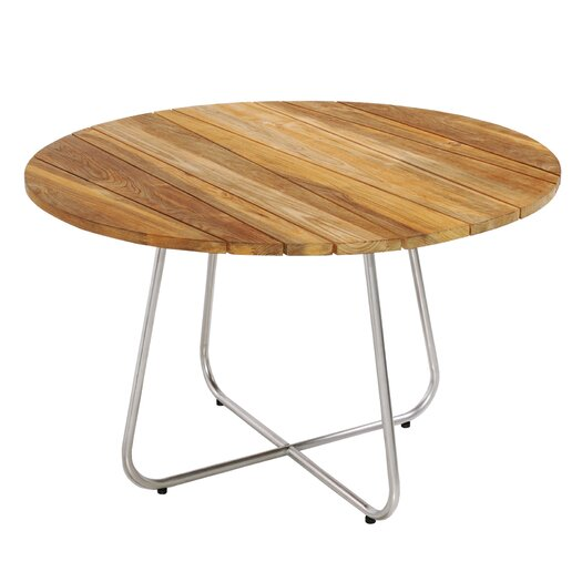 Gemmy Dining Table with Stainless Steel Frame