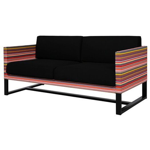 Stripe 2-Seater Sofa with Cushion