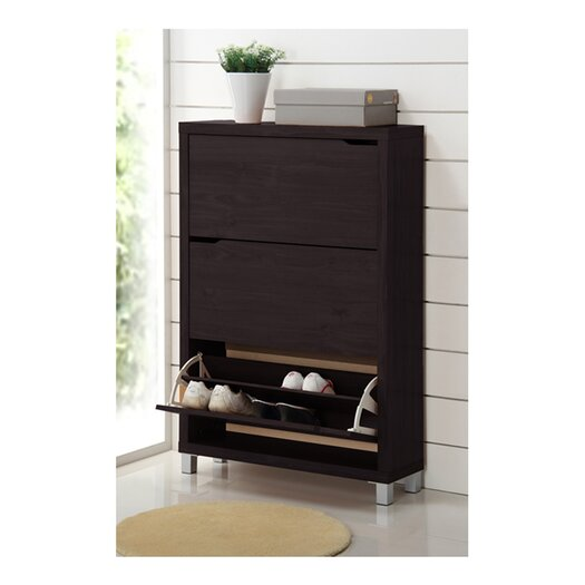 Wholesale Interiors Baxton Studio Simms Modern Shoe Cabinet