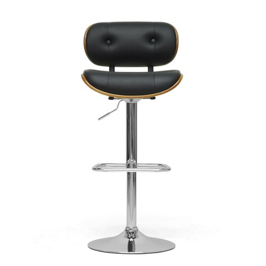 Wholesale Interiors Baxton Studio Leona Modern Adjustable Height Swivel Bar Stool
