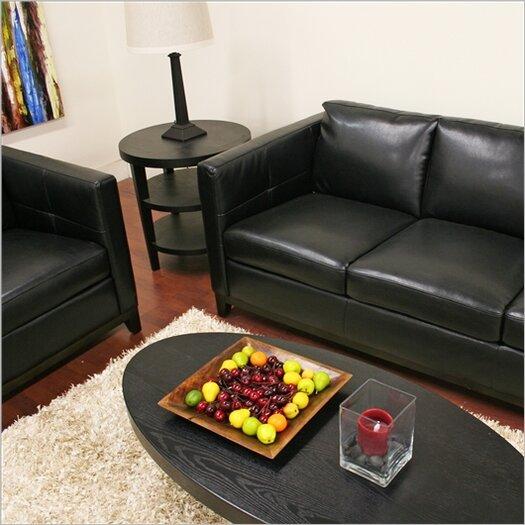 Wholesale Interiors Baxton Studio Rohn Modern Leather Loveseat and Sofa Set