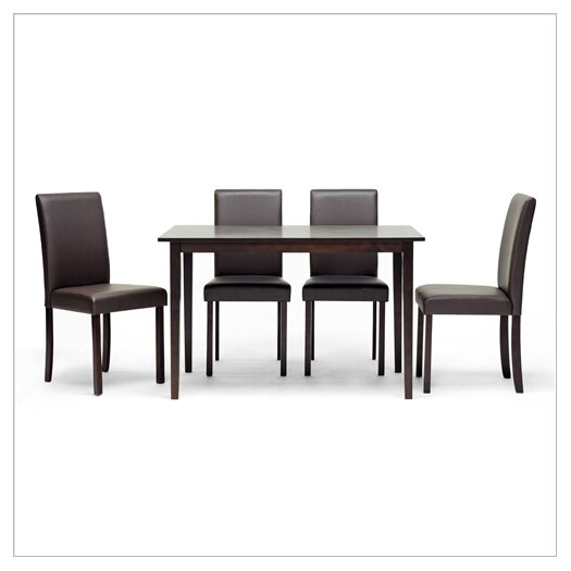 Wholesale Interiors Baxton Studio Susan 5 Piece Dining Set