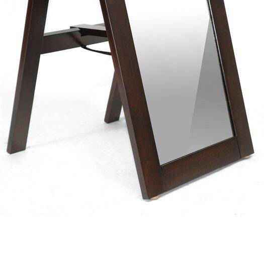 Wholesale Interiors Baxton Studio Lund Modern Mirror with Built-In Stand