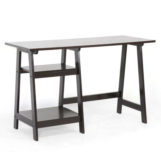Wholesale Interiors Baxton Studio Small Mott Wood Modern Writing Desk with Sawhorse Legs