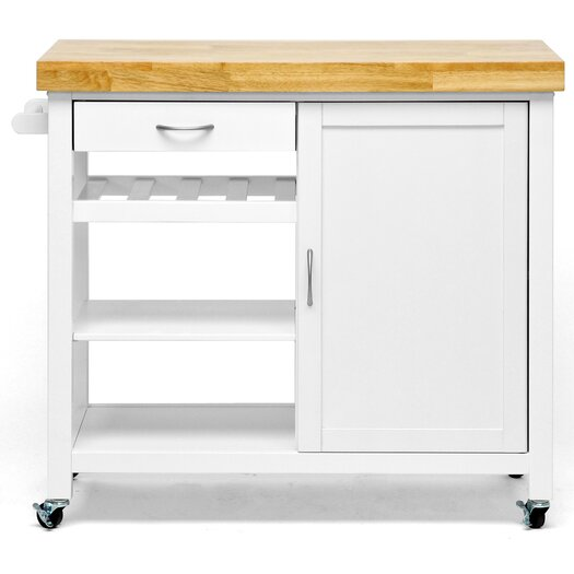 Wholesale Interiors Baxton Studio Denver Kitchen Cart