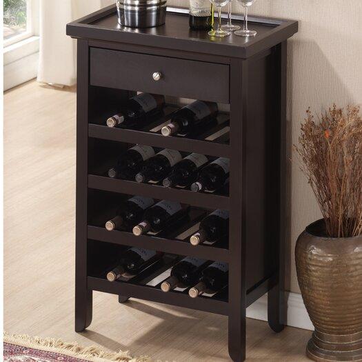 Wholesale Interiors Baxton Studio 16 Bottle Wine Cabinet