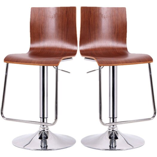 Wholesale Interiors Baxton Studio Lynch Adjustable Height Swivel Bar Stool