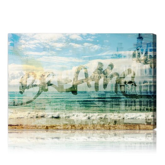 Oliver Gal Breathe Graphic Art on Canvas
