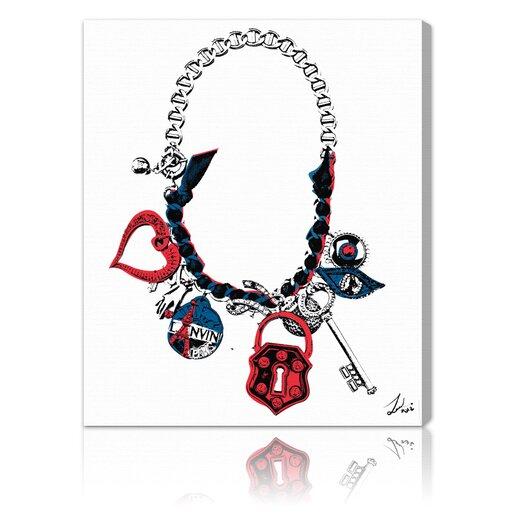 ''Paris on my Neck'' Graphic Art on Canvas