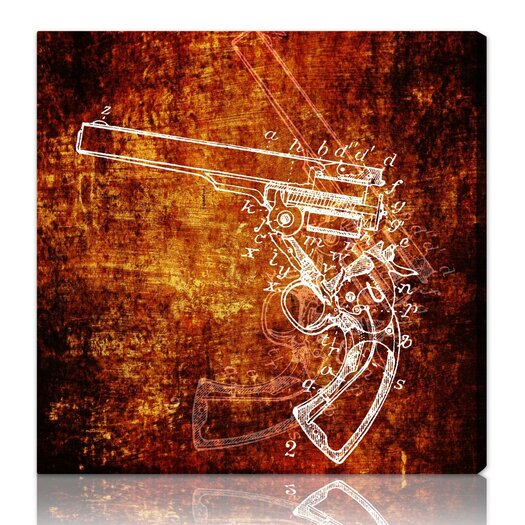 "Oliver Gal ""Anatomy of a Gun"" Graphic Art on Canvas"