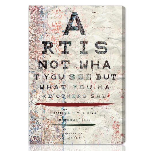 "Oliver Gal ""Art is"" Textual Art on Canvas"