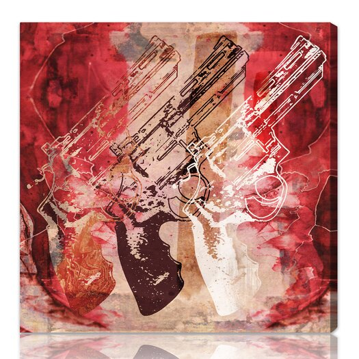 ''Guns and Roses'' Graphic Art on Canvas