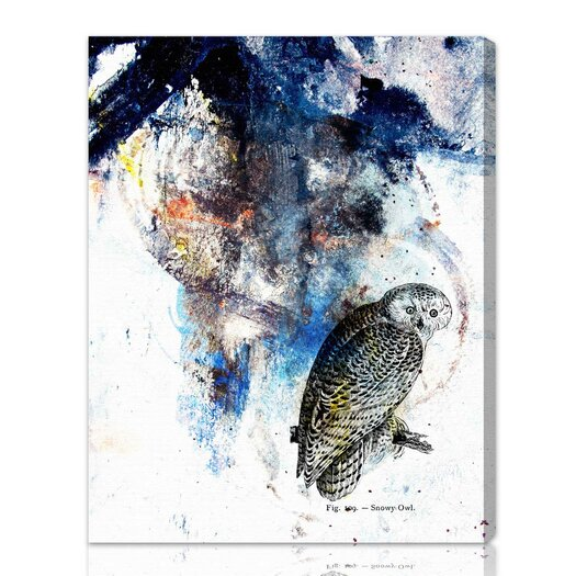 Oliver Gal 'Snowy Owl' Graphic Art on Canvas