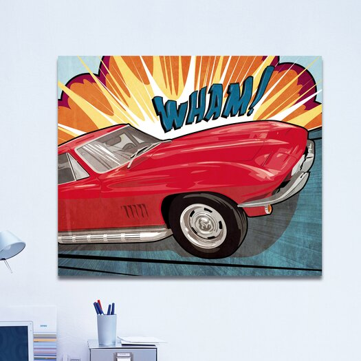 Oliver Gal ''Wham'' Graphic Art on Canvas