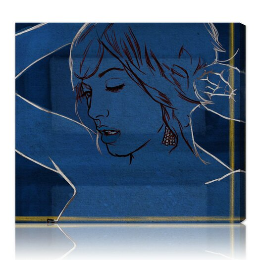 Oliver Gal ''Got the Blues'' Graphic Art on Canvas