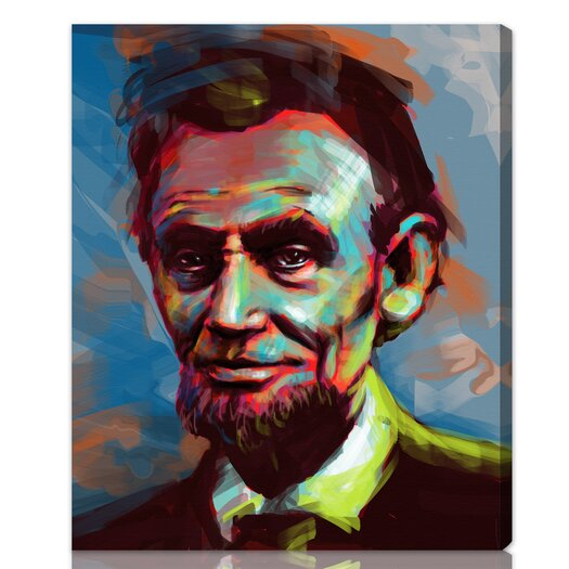 Oliver Gal ''Lincoln'' Graphic Art on Canvas